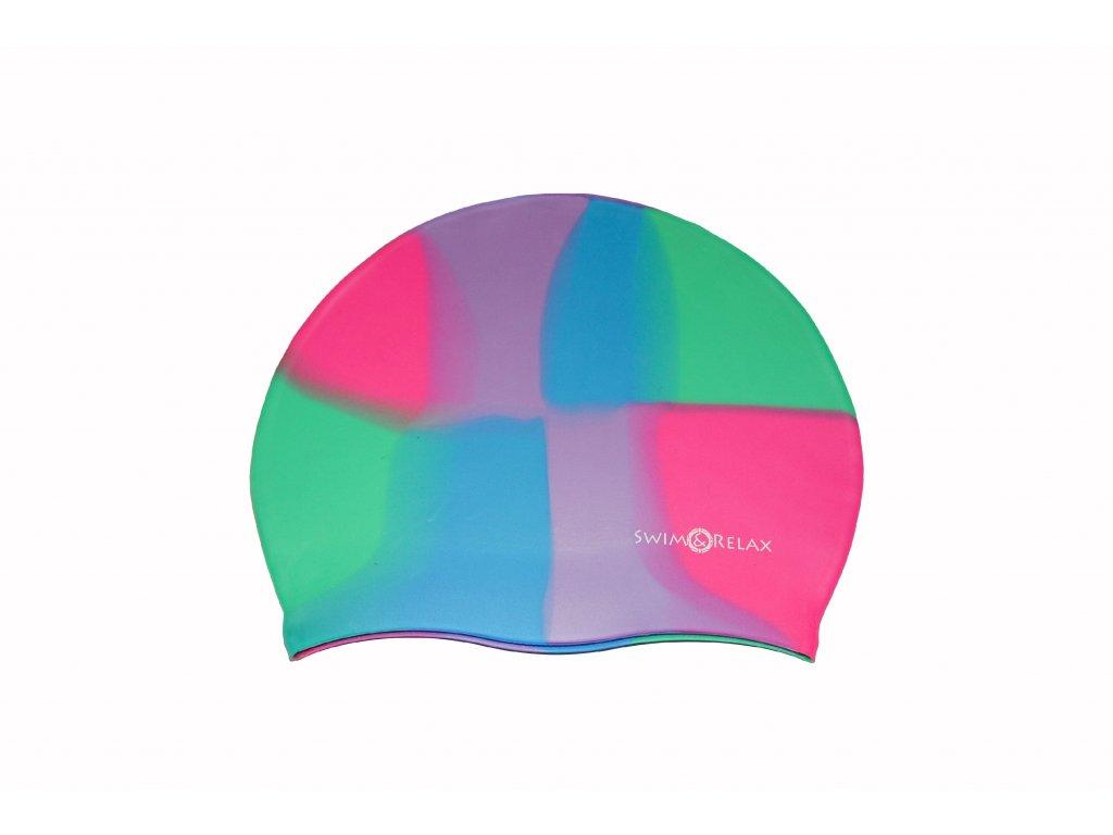Swim&Relax Multicolor plavecká čepice ANETKA