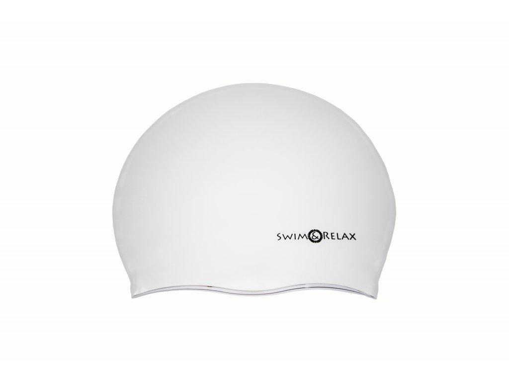 Plavecká čepice SwiMi Solid Color - bílá