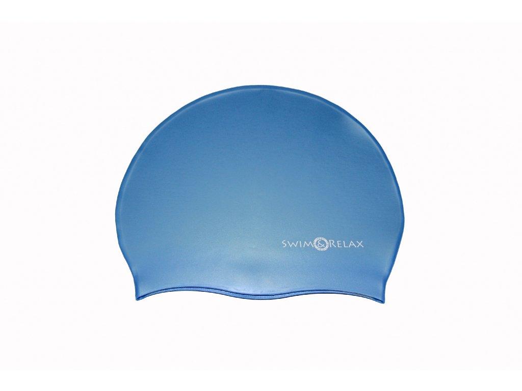 Plavecká čepice Solid Color - modrá