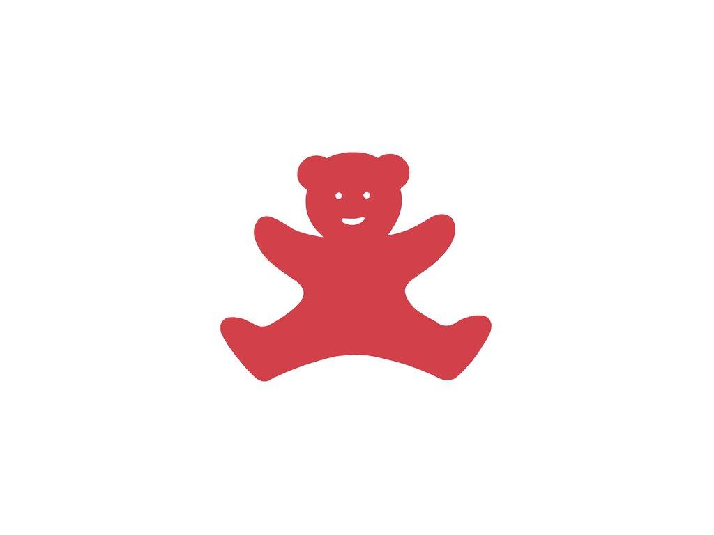 Dena plavecká deska medvídek červená