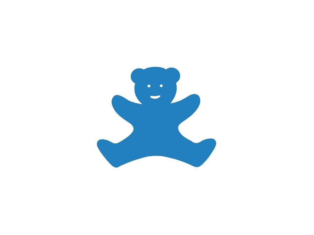 Dena plavecká deska medvídek modrá