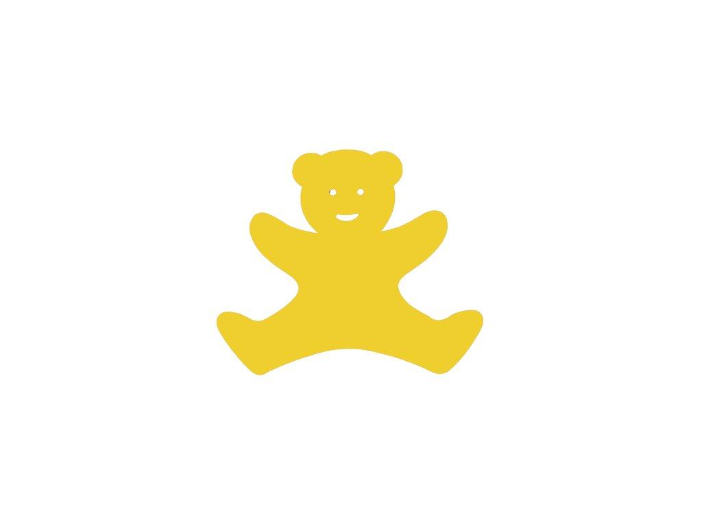 Dena plavecká deska medvídek žlutá