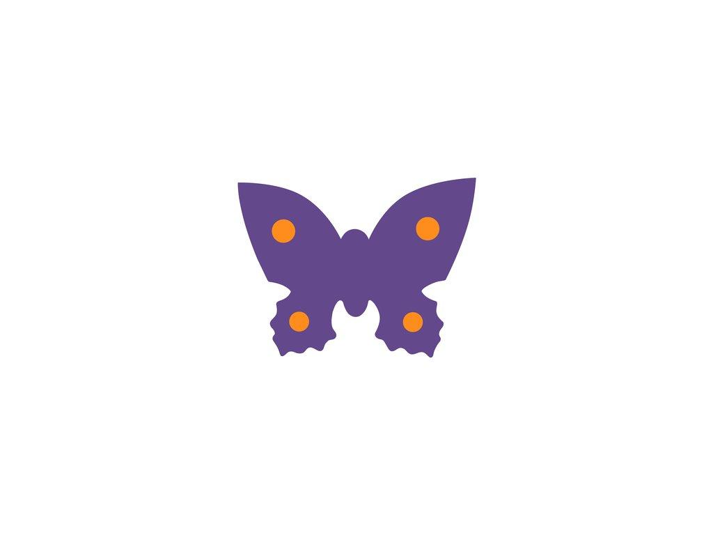 Dena plavecká deska motýl fialová