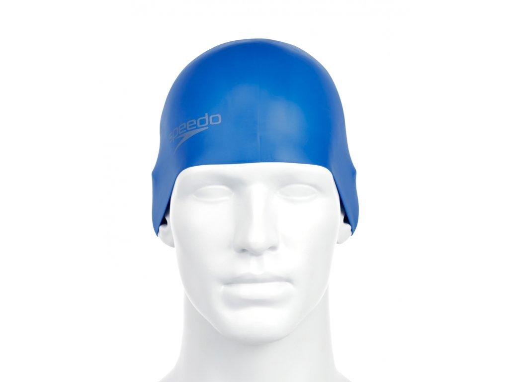 Plavecká čepice Speedo Plain Moulded Silicone modrá (2)