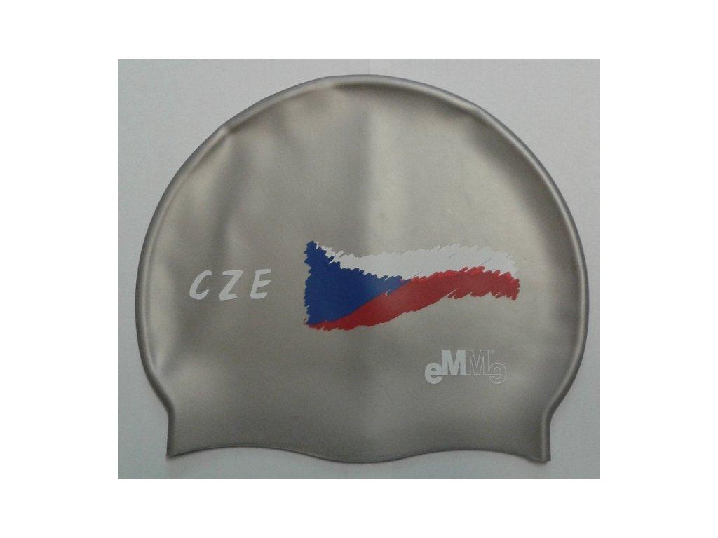 Plavecká čepice Emme Czech flag