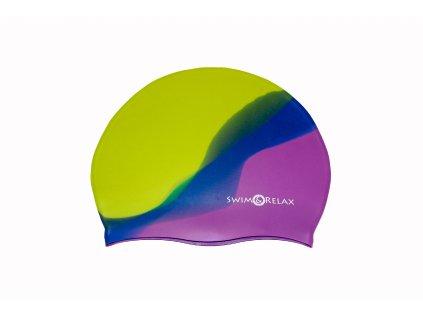 Plavecká čepice Multicolor - zelená, tmavě modrá, fialová