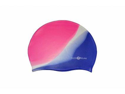 Plavecká čepice Multicolor - růžová, bílá, fialová