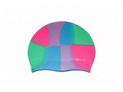 Plavecká čepice Multicolor - růžová, zelená, fialová