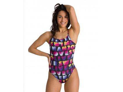 Arena W pop reversible challenge back plavky dámské vcelku
