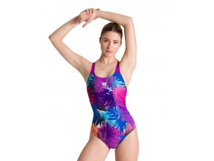 Arena W Palm print swim pro back dámské vcelku