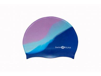 Plavecká čepice Multicolor - fialová, modrá