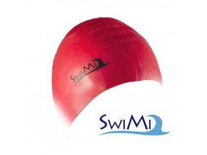 Plavecká čepice SwiMi Solid Color - červená