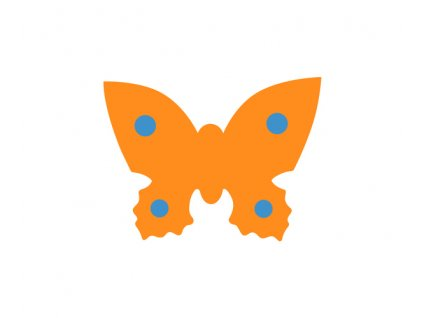 Dena plavecká deska motýl oranžová