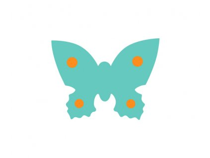 Dena plavecká deska motýl zelená