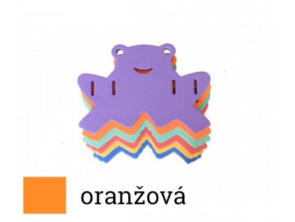 Dena deska žabka oranžová