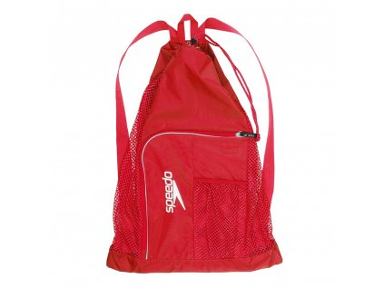 Vak na plavecké pomůcky Speedo Deluxe Vent Mesh Bag červená