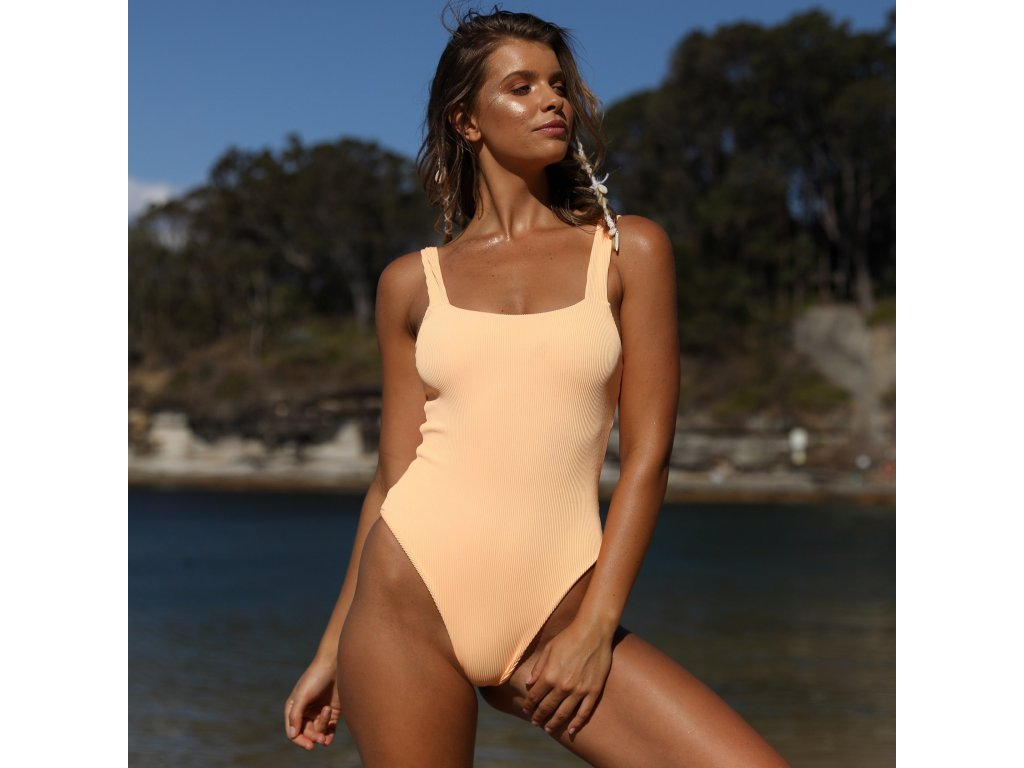 f97b296bc1 Mango Ribbed Cheeky Level One Piece - Swimsuit.cz