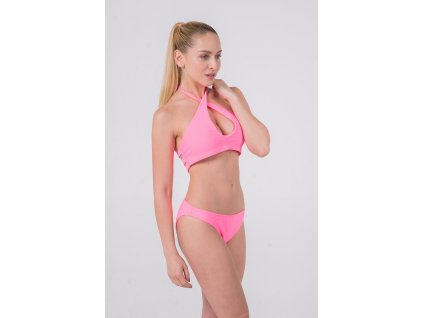 Solid Watermelon Wrap Around Halter / Classic Hipster (Velikost XL, Díl Vrchní)