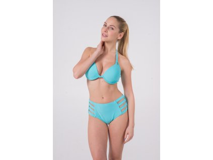 Solid Sky Underwire Padded Push-up / Retro High Waisted