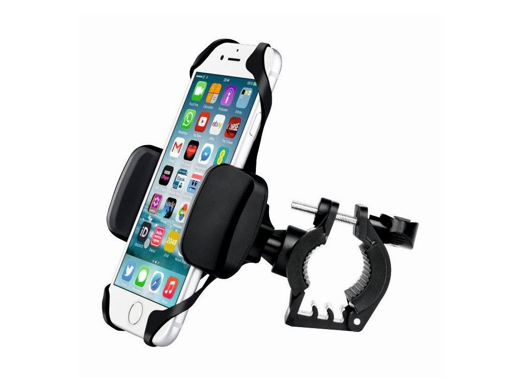 Udrží telefon bezpečně na svém místě i při jízdě náročným terénem.