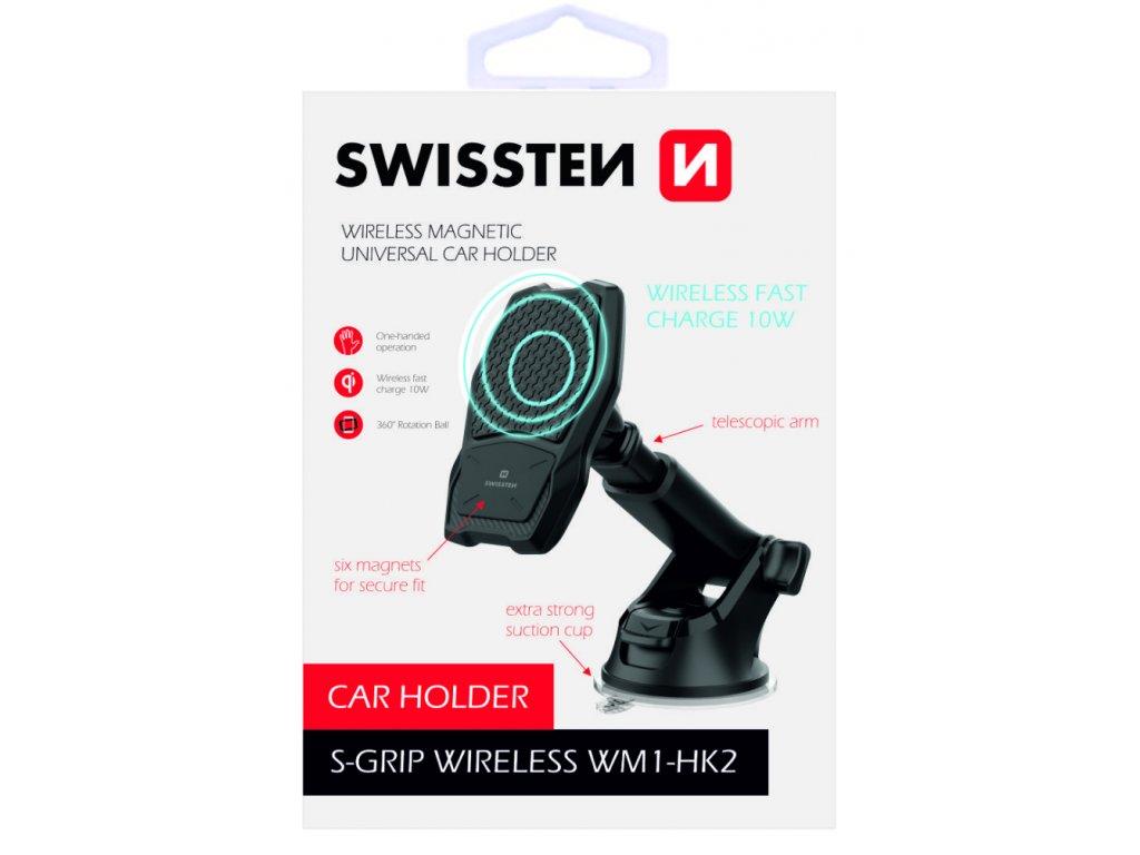 SWISSTEN magnetický držák do auta s bezdrátovým nabíjením S-Grip WM1-HK2  + Dárek: Doprava Zásilkovnou ZDARMA