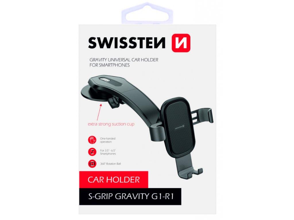Gravitační držák na mobil do auta Swissten Gravity  G1-R1  + Dárek: Doprava Zásilkovnou ZDARMA