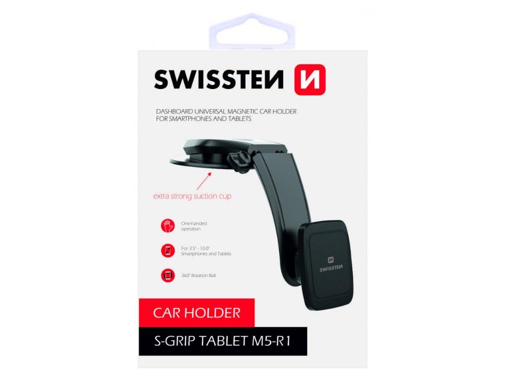 Magnetický držák na mobil do auta Swissten S-Grip M5-R1  + Dárek: Doprava Zásilkovnou ZDARMA