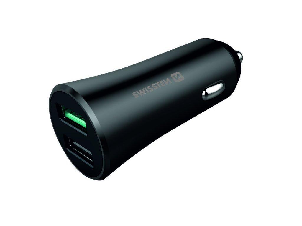 SWISSTEN CL adaptér USB 30 W metal  + Dárek: Doprava Zásilkovnou ZDARMA