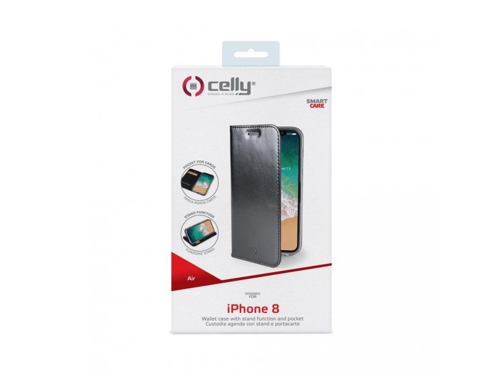 57281 1 ultra tenke pouzdro typu kniha celly air pro apple iphone x xs pu kuze cerne