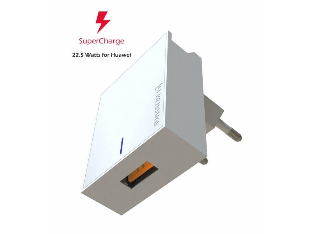 SWISSTEN síťový adaptér pro Huawei Super Fast Charge 22,5 W bílý  + Dárek: Doprava Zásilkovnou ZDARMA