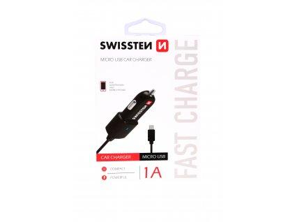 SWISSTEN CL AUTONABÍJEČKA MICRO USB 1A POWER
