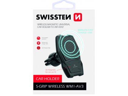SWISSTEN magnetický držák do ventilace auta s bezdrátovým nabíjením WM1-AV3  + Dárek: Doprava Zásilkovnou ZDARMA