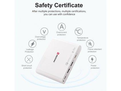 SWISSTEN síťový adaptér 87 W PD3.0 & QC3.0 PPS  + Dárek: Doprava Zásilkovnou ZDARMA