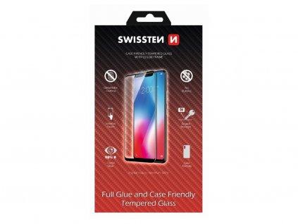 SWISSTEN sklo full glue case friendly iPhone 12 mini