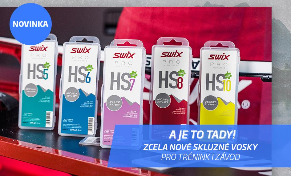 Zcela nové skluzné vosky Swix HS