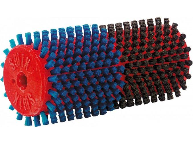 T0015DB Dvojitý rotační kartáč Swix Modrý nylon a koňské žíně