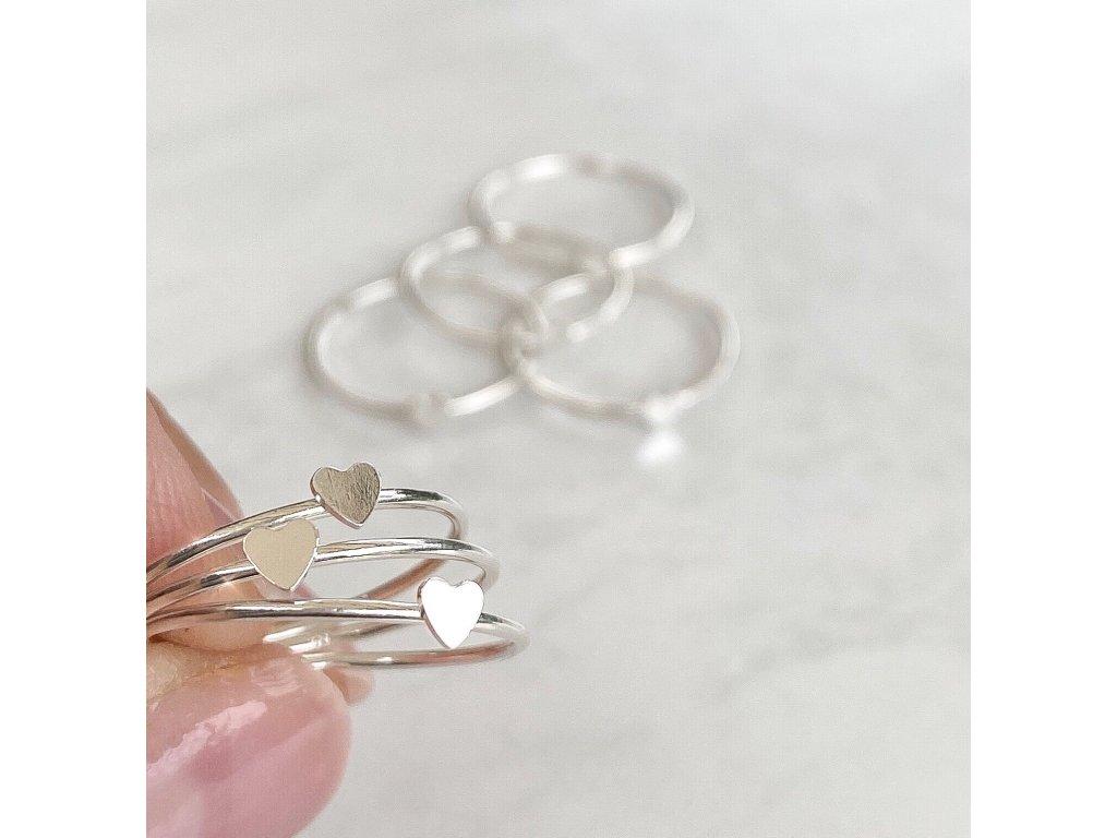Stříbrný prsten Heart  Ag 925/1000