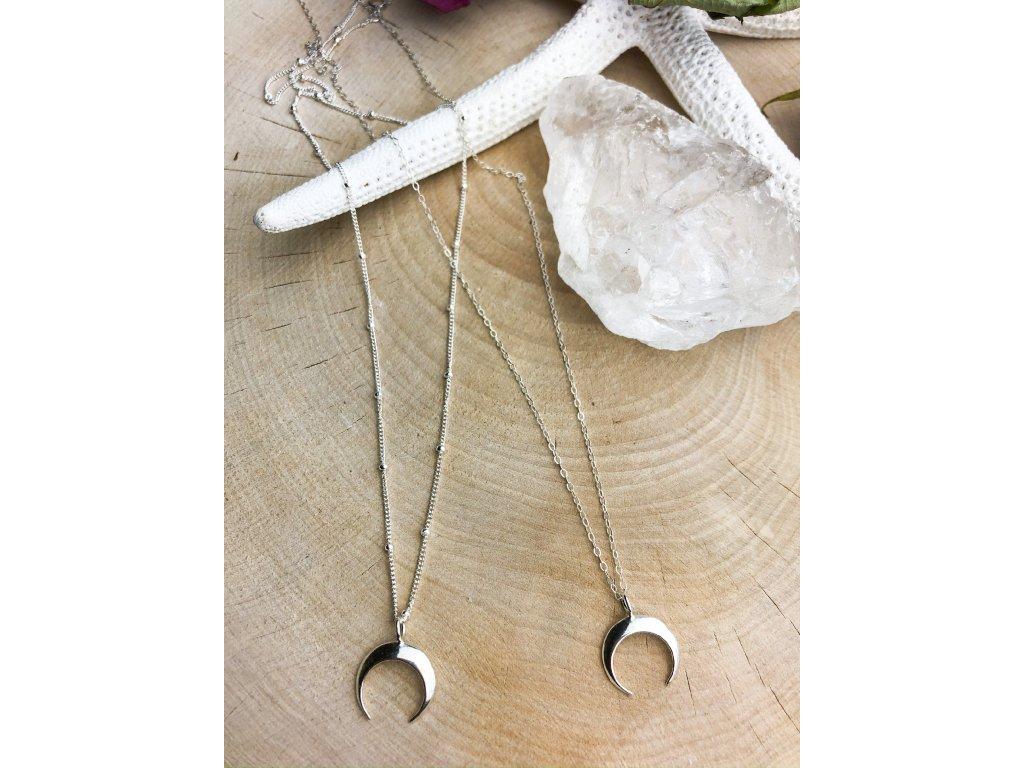 Náhrdelník Půlměsíc Silver (Délka 46cm, Typ řetízku Cable)