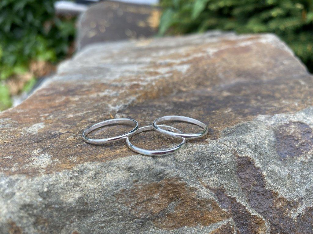 Stříbrný prstýnek hladký kroužek  Ag 925/1000