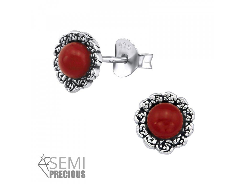 ES JB7413 S OX 30299 Genuine Red Onyx
