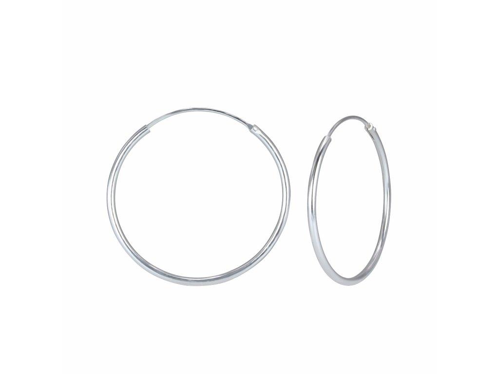 3977 stribrne nausnice kruhy 30 mm