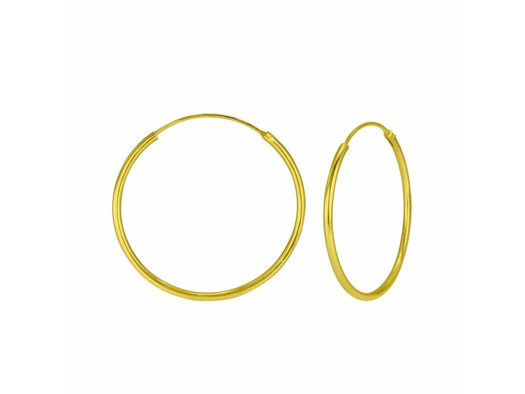 3980 gold nausnice kruhy 30 mm