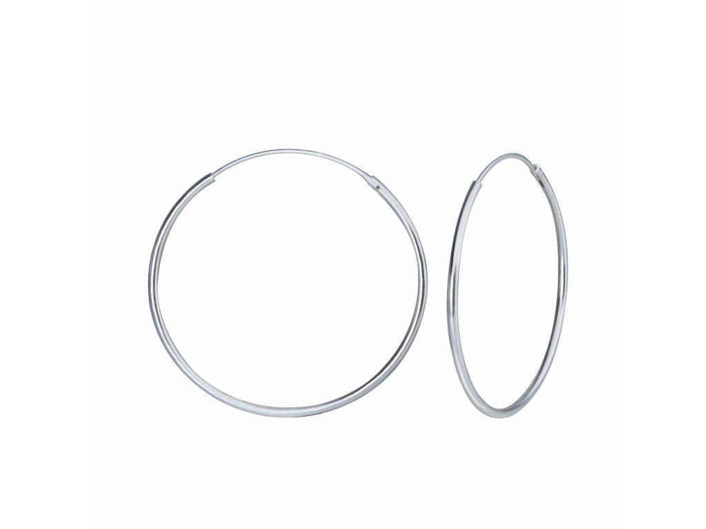 3983 stribrne nausnice kruhy 35 mm