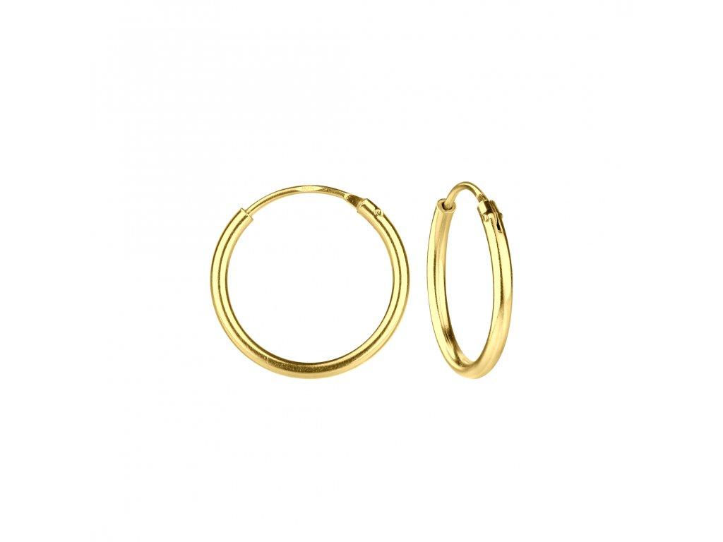 3992 gold nausnice kruhy 14 mm