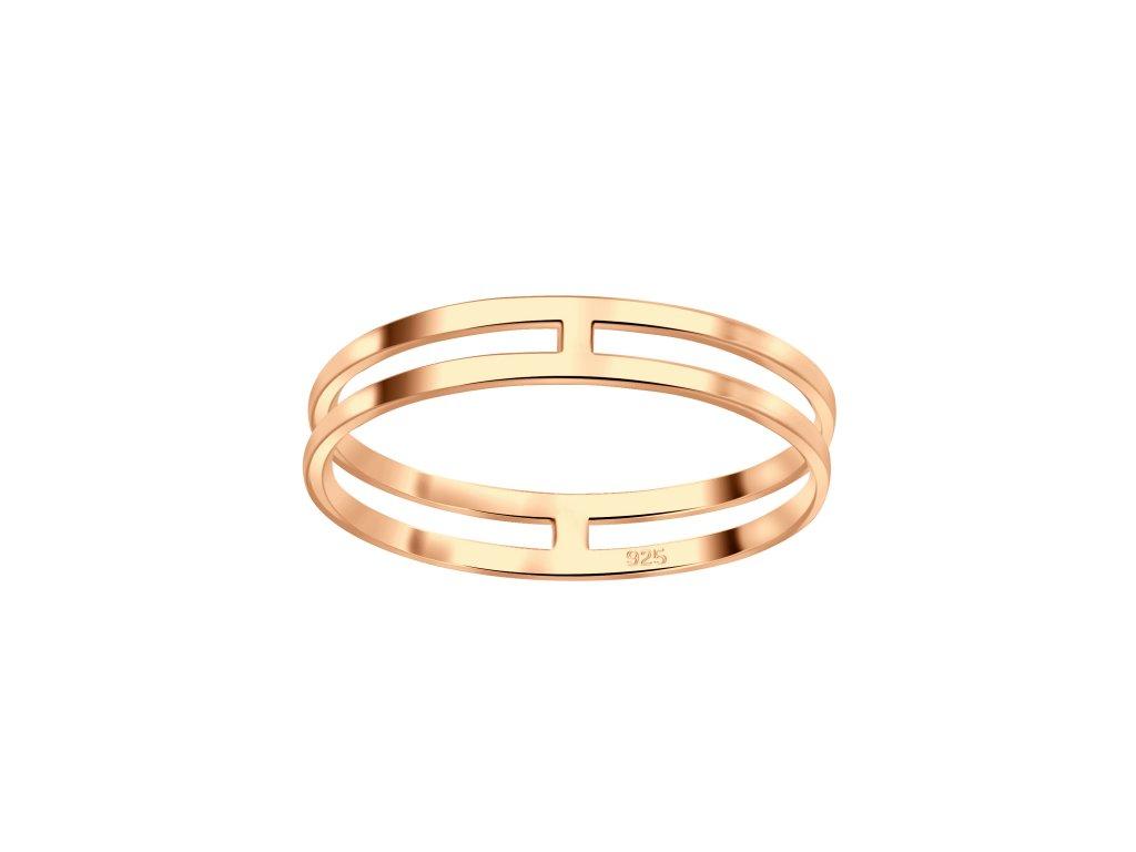 stříbrný prstýnek Rose Gold