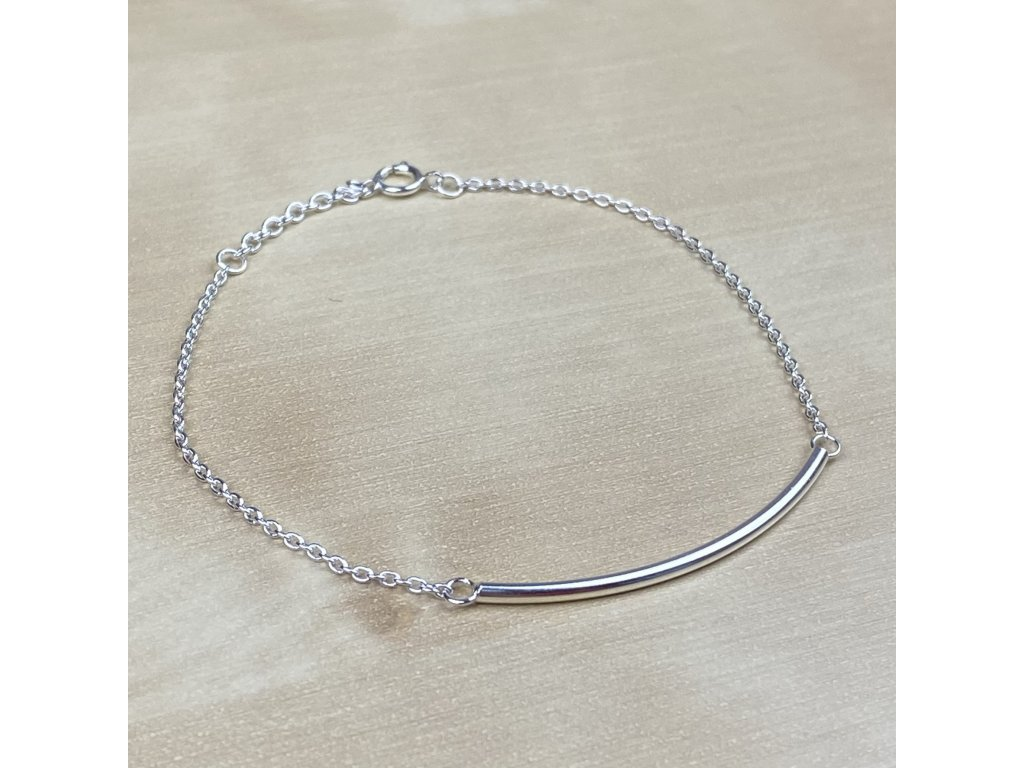 Stříbrný náramek Bar (Délka 17,5 - 20 cm, Materiál stříbro Ag925)