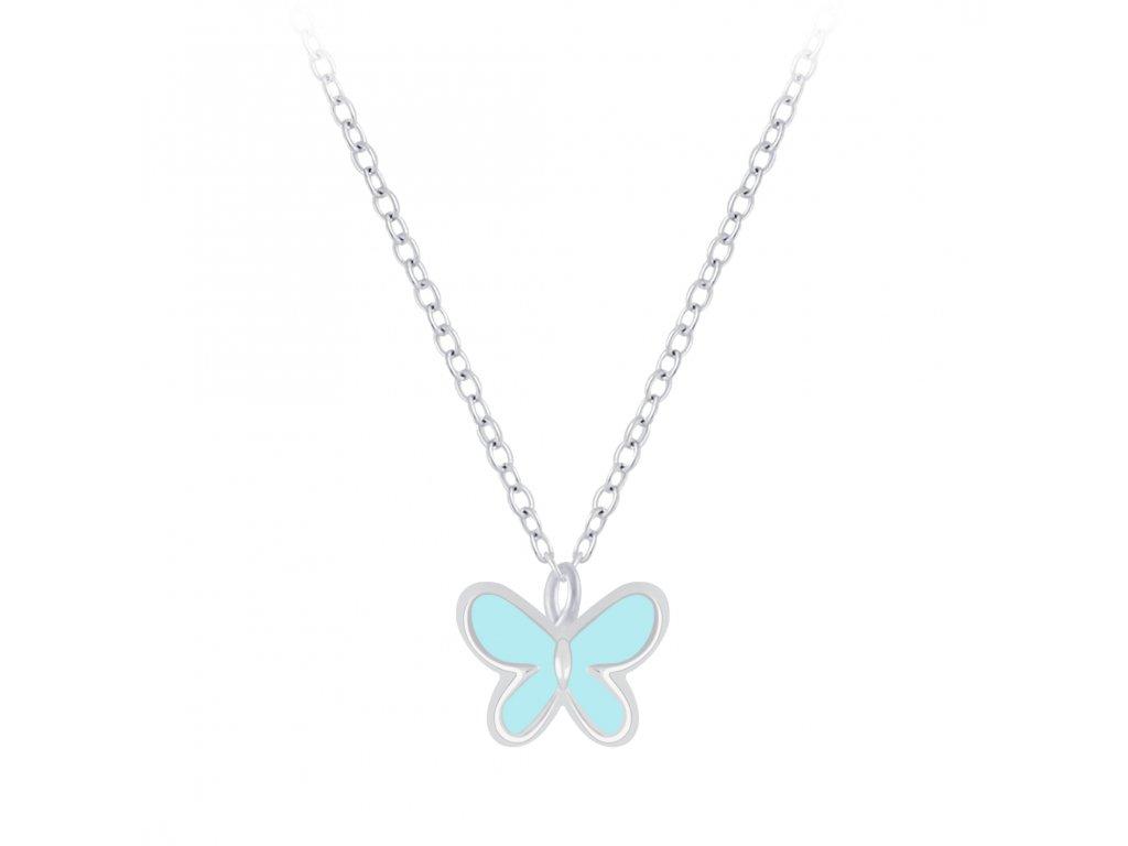 stříbrný řetízek s motýlkem