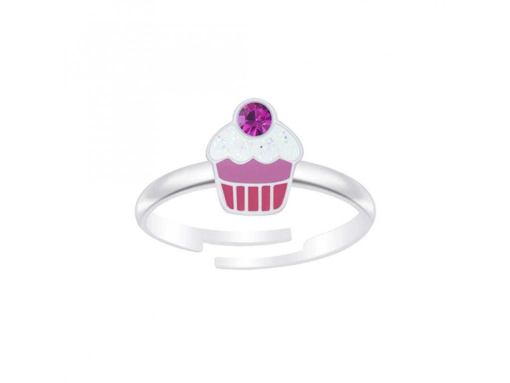 Dětský stříbrný prstýnek Cupcake  Ag 925/10000