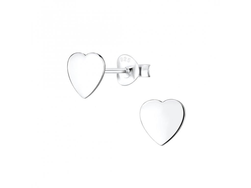 Stříbrné náušnice Srdce  Ag 925/1000