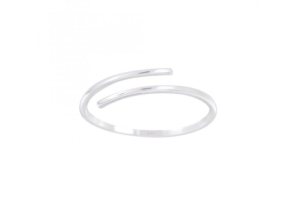 Stříbrný otevřený prstýnek  Ag 925/1000